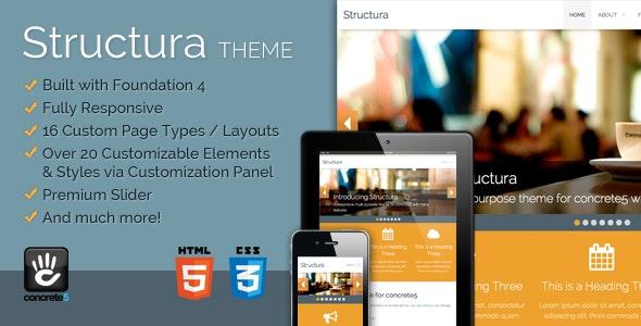Structura Responsive Multi-Purpose Concrete5 Theme - Creative Concrete5