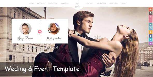 Gittys - Event & Wedding Template - Events Entertainment