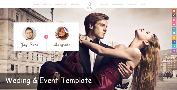Gittys - Event & Wedding Template