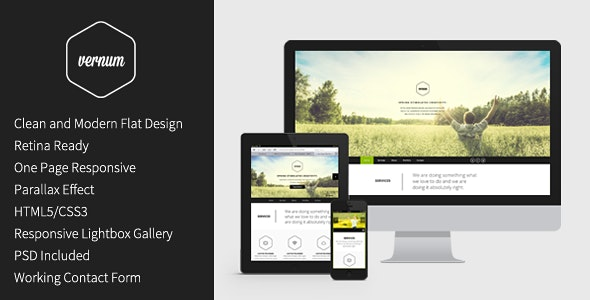 Vernum - Responsive One Page Parallax Template - Portfolio Creative