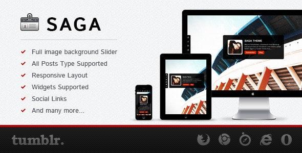 SAGA - Premium Tumblr Theme - Portfolio Tumblr