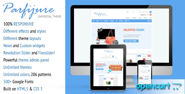 Parfijure – Responsive OpenCart theme! - Shopping OpenCart