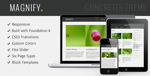 Magnify Responsive Multipurpose Concrete5 Theme - Concrete5 CMS Themes