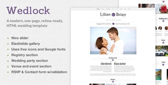 Wedlock - A Modern Wedding HTML Template - Events Entertainment