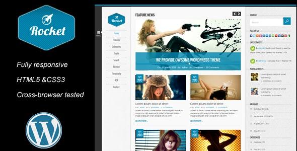 Rocket News is a Responsive Wordpress Magazine The - Blog / Magazine WordPress