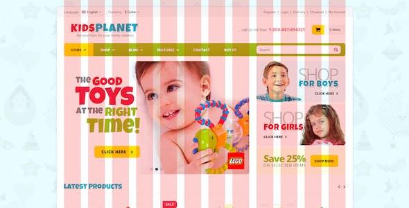 Kids Planet - eCommerce & Blog PSD Template