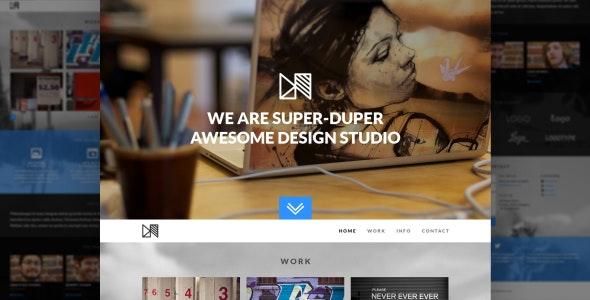 Nonus One Page Parallax PSD Template - Portfolio Creative