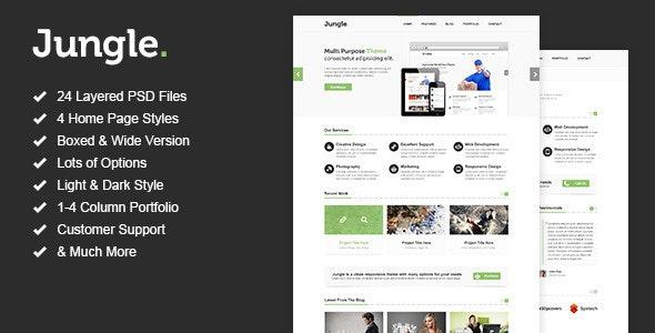 Jungle - Unique Multi Purpose PSD Template - Corporate PSD Templates