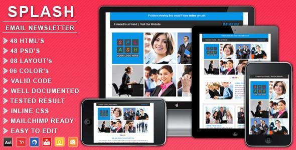 SPLASH - Responsive Business Email Newsletter