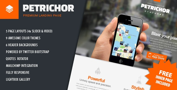 Petrichor - Premium Clean Landing Page - Apps Technology