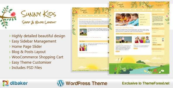Sunny Kids Creative WooCommerce - Children Retail
