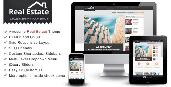 Real Estate – Responsive HTML Theme - Business Corporate