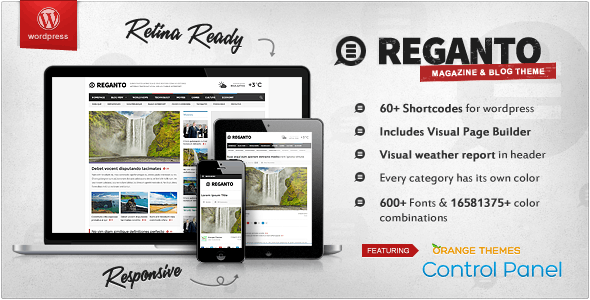 Reganto - Massive Magazine Theme - News / Editorial Blog / Magazine