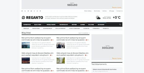 Reganto - Massive Magazine Theme