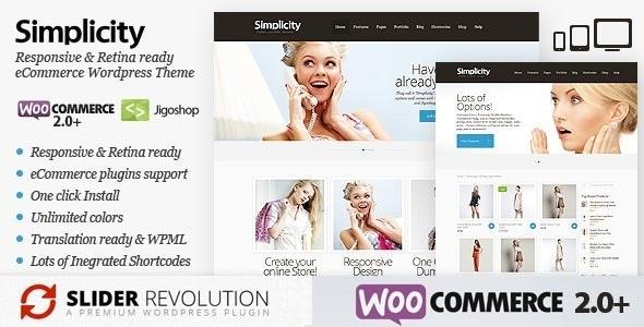 Simplicity – eCommerce Responsive WordPress Theme