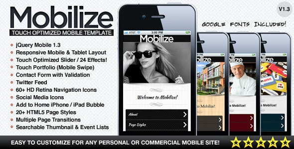 Mobilize - Touch Optimized Mobile Template by BeantownThemes