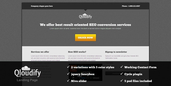 Qloudify Business Landing Page - Business Corporate