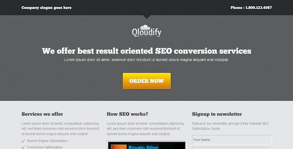 Qloudify Business Landing Page