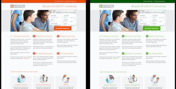 Manhattan University Landing Page