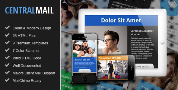 Central - Responsive Email Newsletter Template - Email Templates Marketing