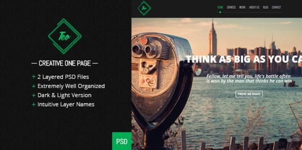 Teo - Single Page PSD Template - Creative Photoshop
