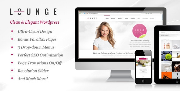 Lounge - Clean Elegant WordPress Theme - Business Corporate