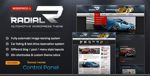 Radial - Premium Automotive & Tech WordPress Theme