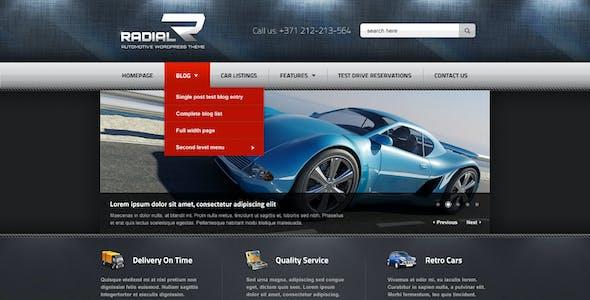 Radial - Premium Automotive & Tech HTML Template