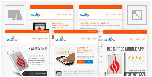 MoveOn - Mobile Friendly and Responsive HTML Email - Email Templates Marketing