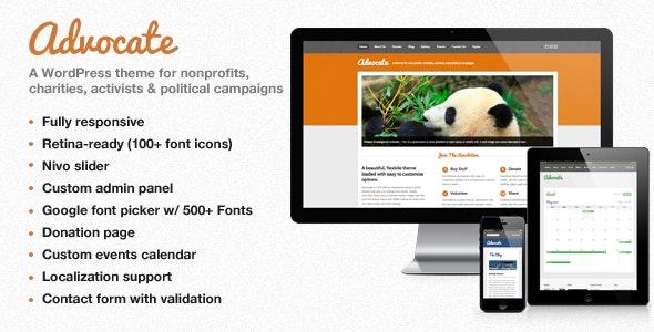 Advocate - A Nonprofit WordPress Theme - Activism Nonprofit