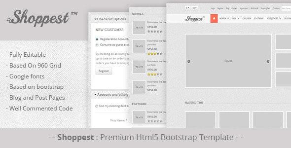 Shoppest: Html5 responsive bootstrap eCommerce - Shopping Retail