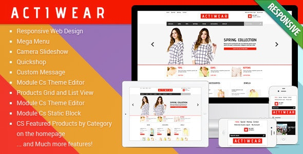 Actiwear - Minimal Responsive PrestaShop Theme - Fashion PrestaShop