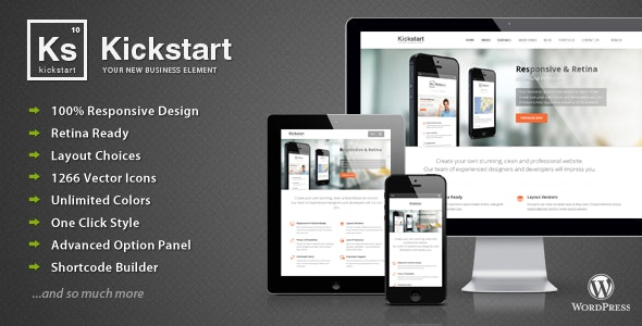 Kickstart - Retina Responsive Multi-Purpose Theme - Business Corporate