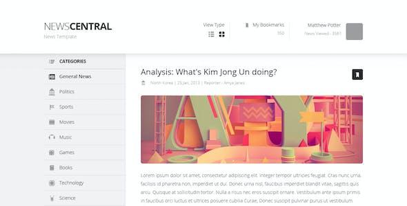 News Central - News Template