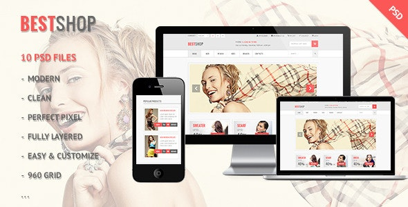 Bestshop - Retail, Shopping, eCommerce PSD - Shopping Retail