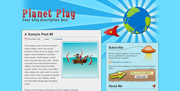 Planet Play - Blogger Blogging