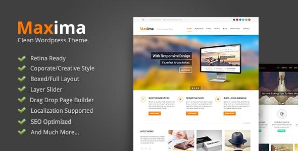 Maxima - Retina Ready WordPress Theme