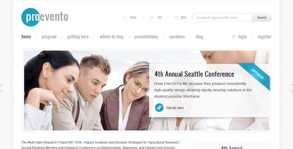 Evento - Event Management WordPress Theme