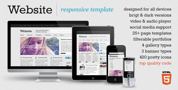 Website - responsive template - Portfolio Creative