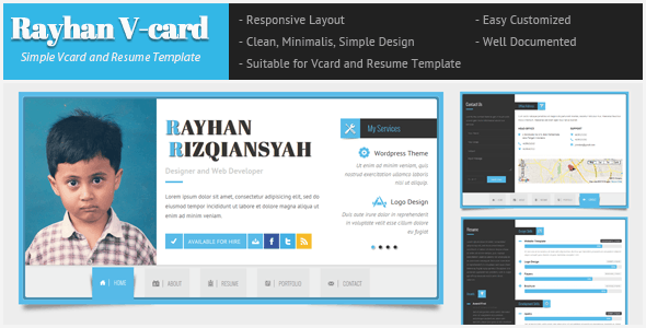 Rayhan - HTML Resume Template CV Vcard - Resume / CV Specialty Pages