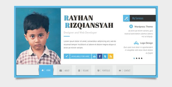 Rayhan - HTML Resume Template CV Vcard