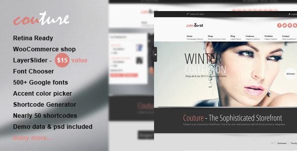 Couture WordPress WooCommerce Theme - WooCommerce eCommerce