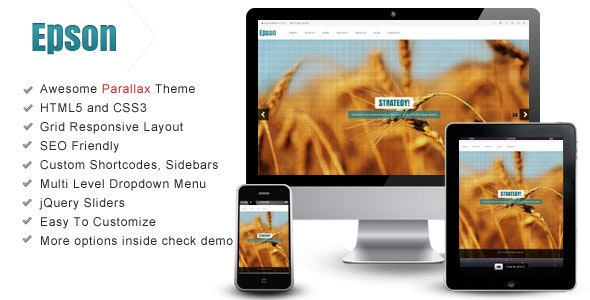 Epson – Interactive Parallax - Responsive Theme - Creative Site Templates