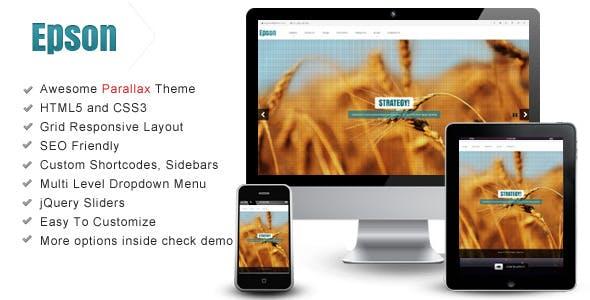 Epson – Interactive Parallax - Responsive Theme