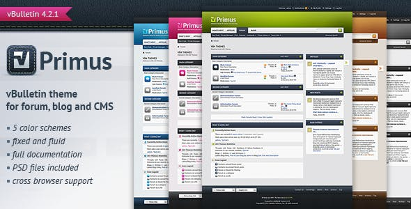 Download Primus - A Theme for vBulletin 4.2 Suite