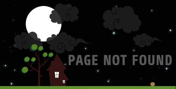 Lost in Night Animated 404