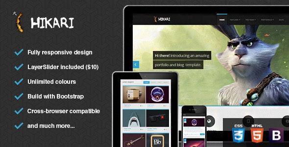 Hikari - Premium Portfolio and Blog Template - Creative Site Templates