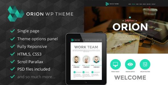 Orion - Responsive One Page Wordpress Template - Portfolio Creative