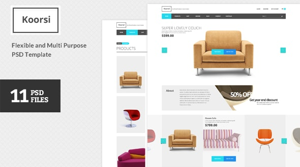Koorsi – All In One PSD Template - Shopping Retail