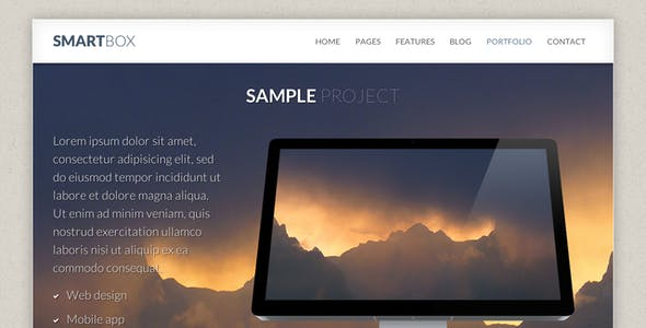 SmartBox - Responsive Bootstrap HTML Template